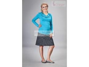 Těhotenská sukně Jeans granátový melír