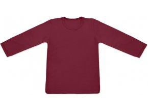 Tričko s dlouhým rukávem - bordó, vel. 74, 80, 128, 134 a 140