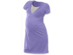 Těhotenská a kojící noční košile - lila