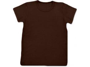 Tričko s krátkým rukávem hnědé