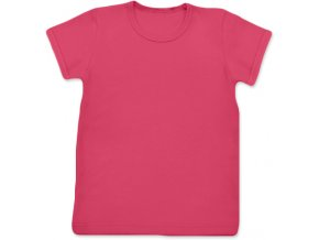 Tričko s krátkým rukávem lososově růžová, vel. 74, 80 a 92
