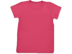 Tričko s krátkým rukávem lososově růžové