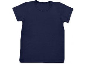 Tričko s krátkým rukávem tm. modrá, vel. 74, 80, 86, 116, 122, 128, 134 a 140