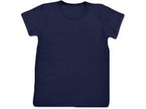 Tričko s krátkým rukávem tm. modrá