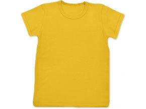 Tričko s krátkým rukávem žlutooranžová, vel. 74, 134 a 140
