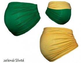 Těhotenský pás Duo - Zelená/žlutá