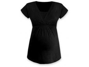Kojící a těhotenská tunika s krátkým rukávem - Anička černá