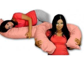 Kojící polštář/relaxační poduška - lososová