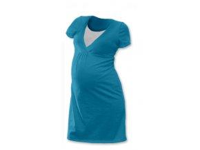 Těhotenská a kojící noční košile - petrolejová