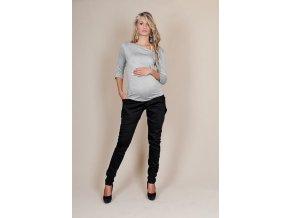 Těhotenské kalhoty Aladinky černé
