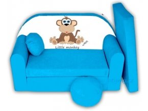 Rozkládací pohovka - Little monkey modrá