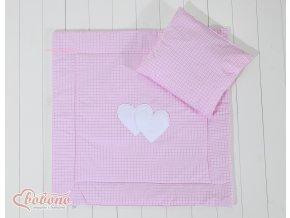 Sada - Srdíčka kostička růžová