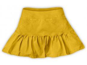 Sukýnka žlutooranžová, vel. 104, 110, 116, 122, 128 a 140