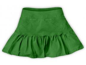Sukýnka tm. zelená, vel. 86, 92, 110, 116, 128 a 134