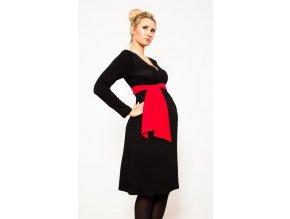 Šaty Kalypso s červenou stuhou