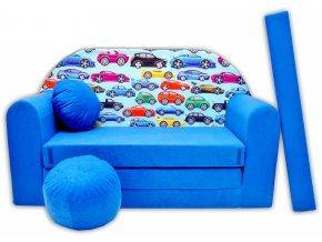 Rozkládací pohovka - Malá autíčka modrá