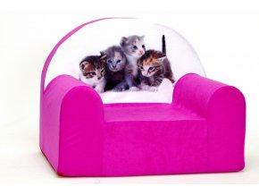 Křesílko - Kočky růžové