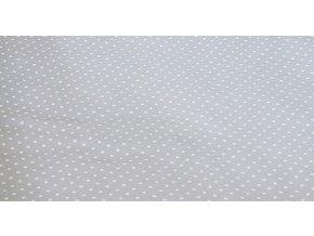Povlak na kojící polštář - Srdíčka šedá s tečkami