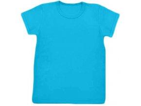 Tričko s krátkým rukávem tyrkysová, vel. 74, 80, 122, 128, 134 a 140