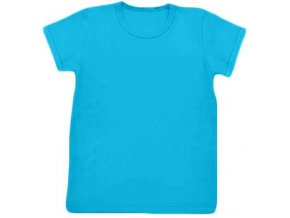 Tričko s krátkým rukávem tyrkysová, vel. 74, 86, 92, 128 a 134