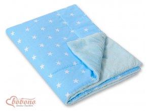 Deka Minky - Hvězdičky na modré