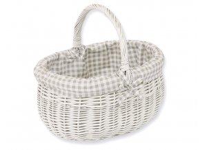 Proutěný košík Kárko šedé