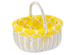 Proutěný košík Maroko žluté