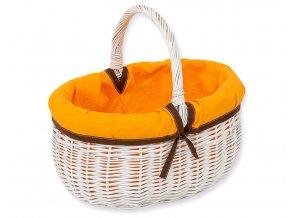 Proutěný košík Oranžová s hnědou