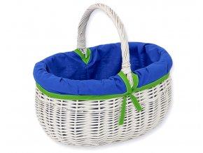 Proutěný košík Granátová se zelenou