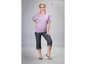 Těhotenské 3/4 kalhoty - Jeans granátový melír, vel. S, M, L a XL