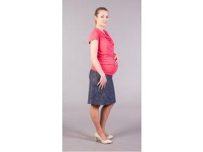 Těhotenská sukně Jeans granátový melír, vel. L