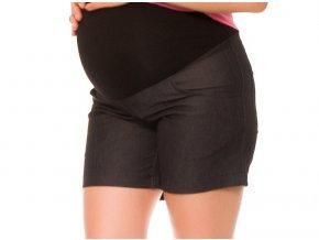 Těhotenské kraťasy Jeans crush černé