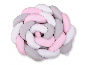 bílo šedo růžový