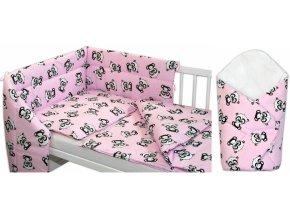 baby panda růžová