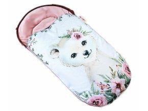 medvídek, pudrově růžová 1