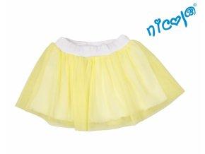 mořská víla sukně tutu žlutá