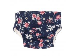 Látkové kalhotky + plenky - Květy, 5-14kg