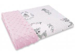 jelínek růžový deka minky