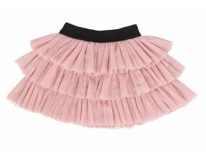 vlčí mák sukně tutu růžová s černým pásem
