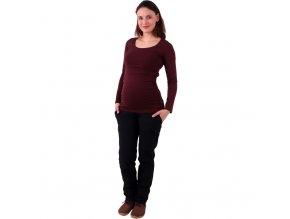 Softshellové těhotenské kalhoty Sága černé