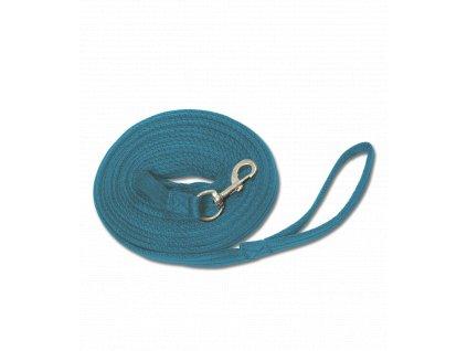 Nylonová lonžka jednofarebná modrá Jazdecké potreby nz