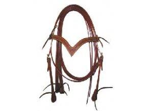 westernová uzdečka s oťažami čelenka v tvare V jazdecké potreby nz