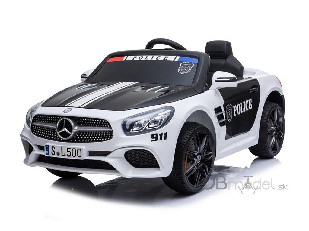 Elektrické autíčko Mercedes SL500 POLICE 2x45W biele
