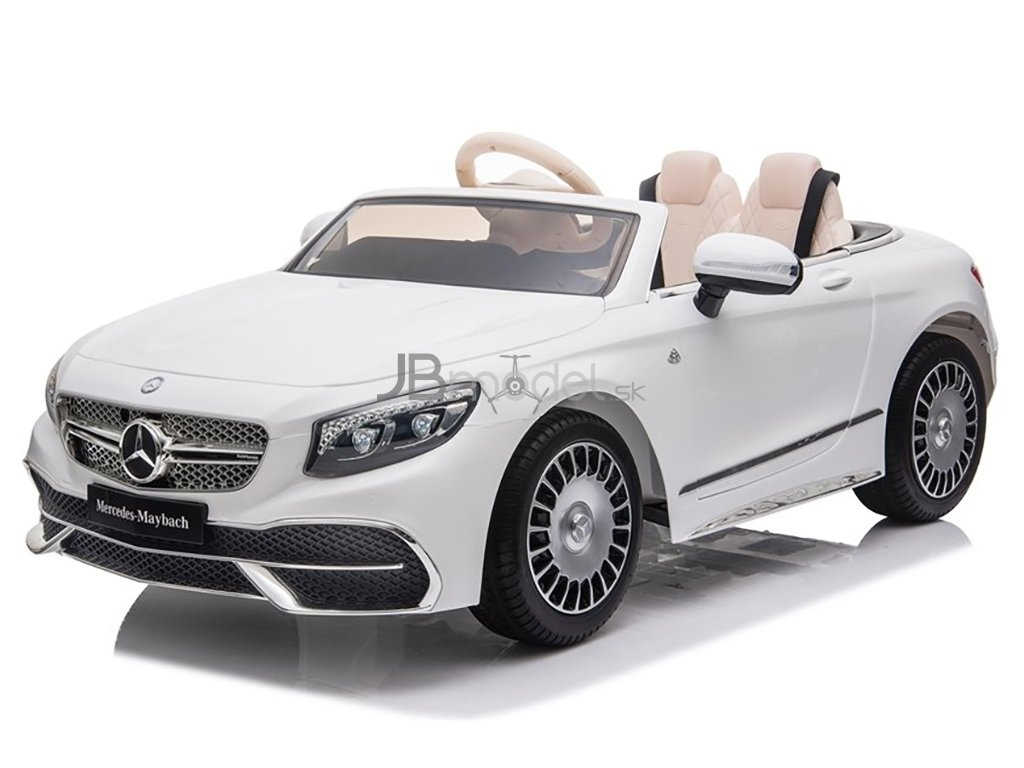 Elektrické autíčko Mercedes MAYBACH 2x45W biele
