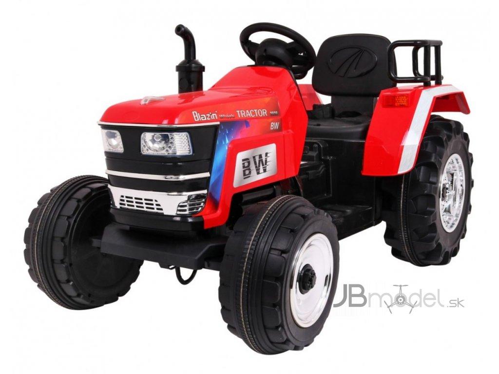 Elektrický detský traktor MAHINDRA 2x35W červený