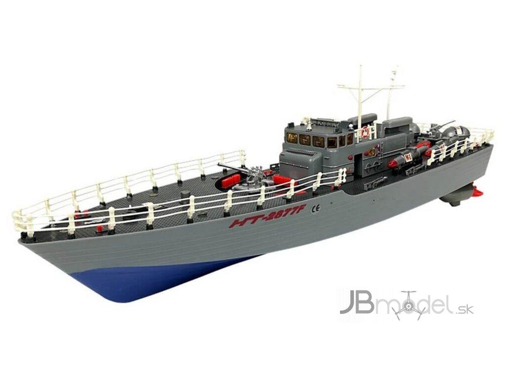 RC vojenská torpédová loď Torpedo boat RTR 1:115