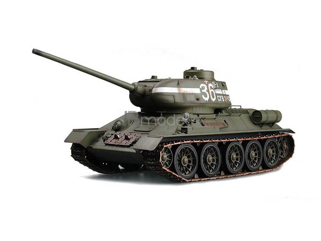 "RC tank 1:16 T-34/85 Russian ""Rudy"" - 2.4GHz RTR, IR strely"