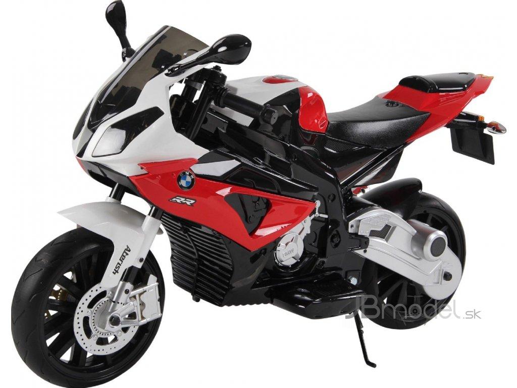 Elektrická motorka pre deti  BMW S1000 RR červená , originál licencia