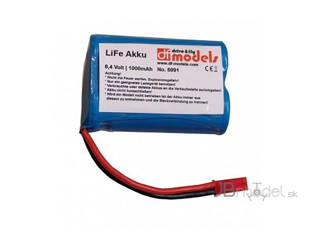 LiFe AKU 6,4v 1000mAh - akumulátor pre TruckFighter3 a StormFighter3