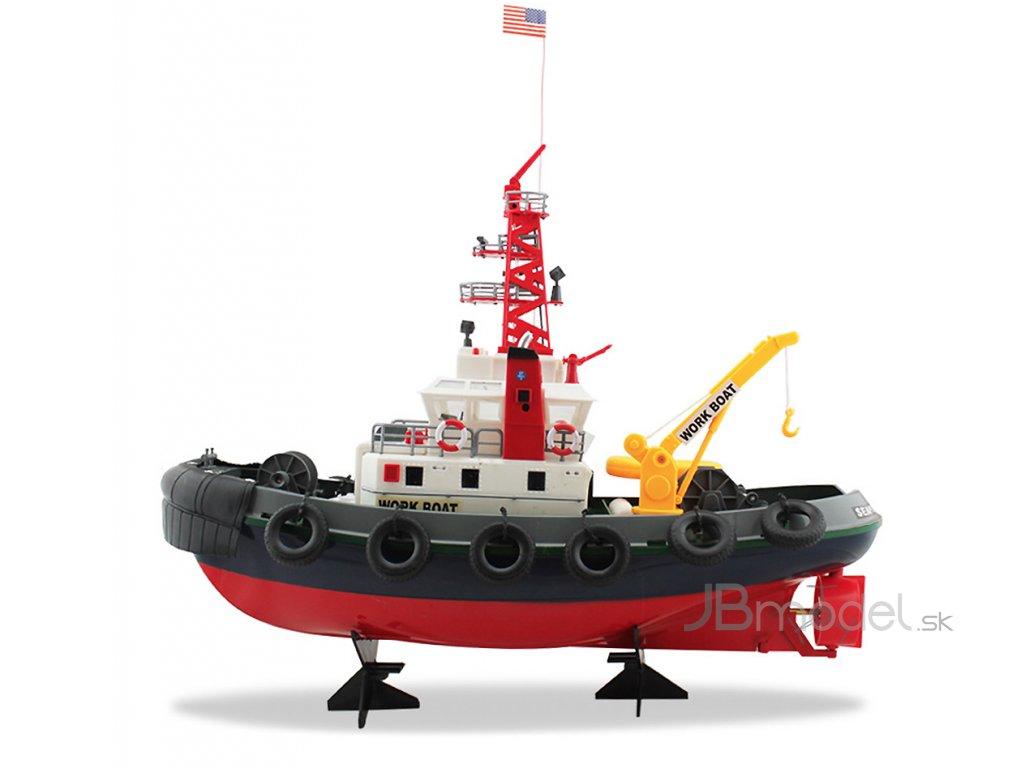 Požiarnická rc loď s funkčným vodným delom